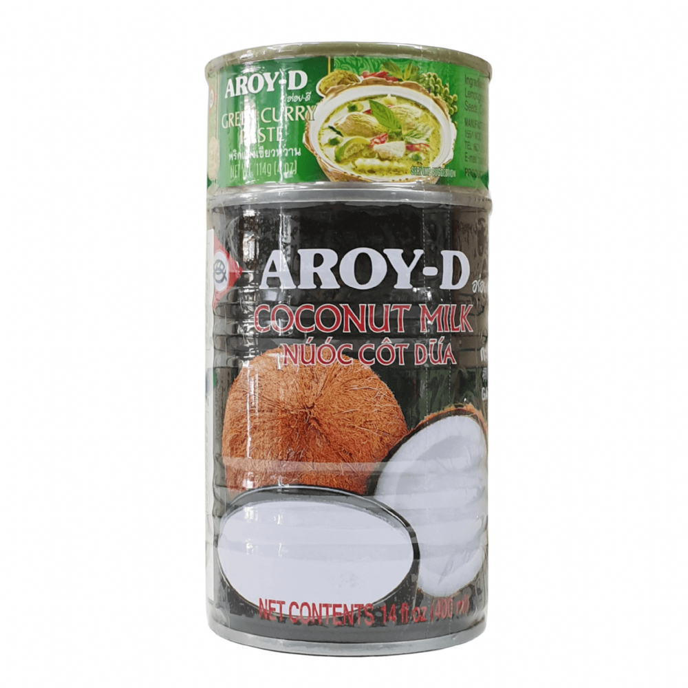Aroy-D Coconut Milk & Green Curry Paste 400ml